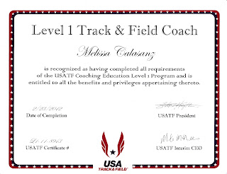 Melissa Adylia Calasanz of Controlled Burn Fitness USATF Certified Level 1 Coach