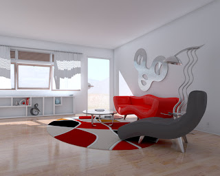 Red and White Living Room Designs3
