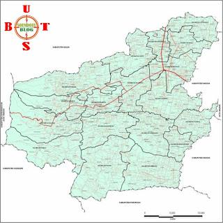 Peta Kabupaten Magetan setelah Pemekaran