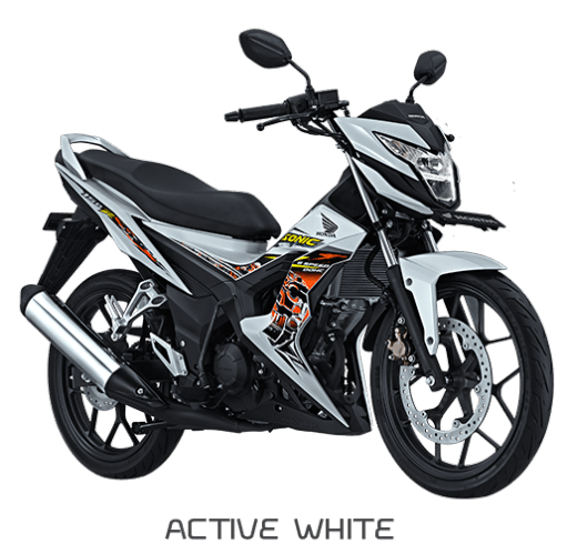 Foto Gambar Modifikasi Honda New Sonic 150R Active White