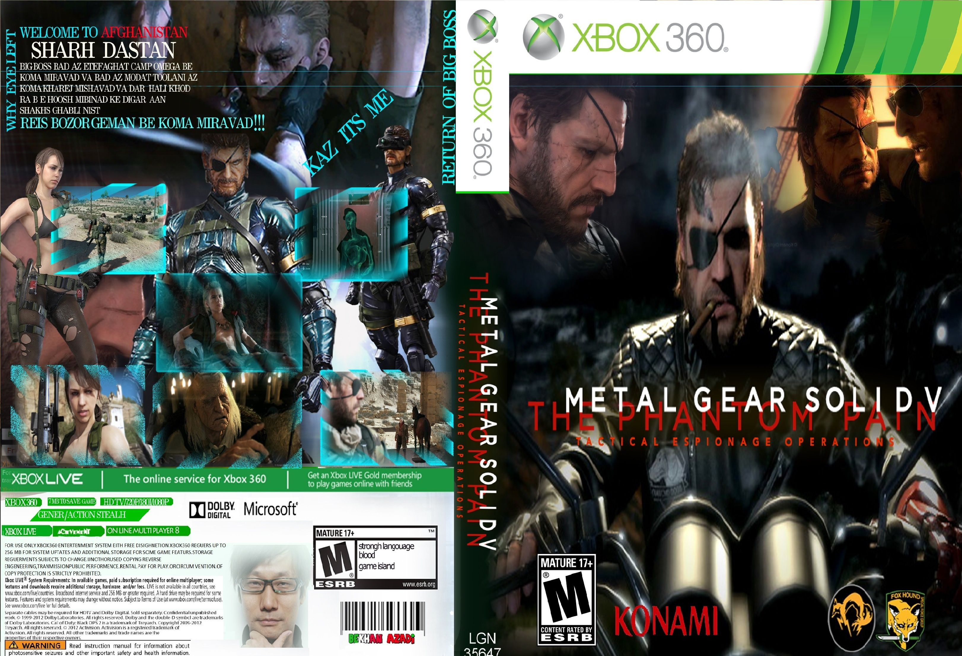 Capa Metal Gear Solid The Phantom Pain Xbox 360