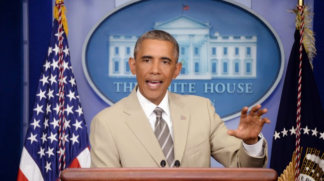 POTUS Wears a Summer Suit to Talk Terrorism...Gets Criticised By GOP