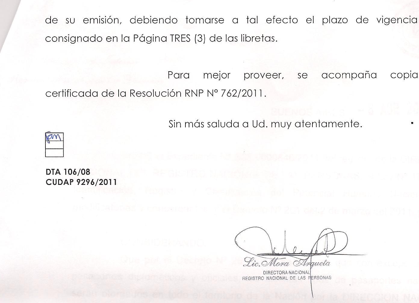 Ministerio del interior reconoce el error en la duracion for Ministerio del interior correo electronico
