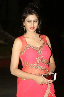 Shamili Transparent Red Saree Latest Unseen Pictureshoot (2).JPG