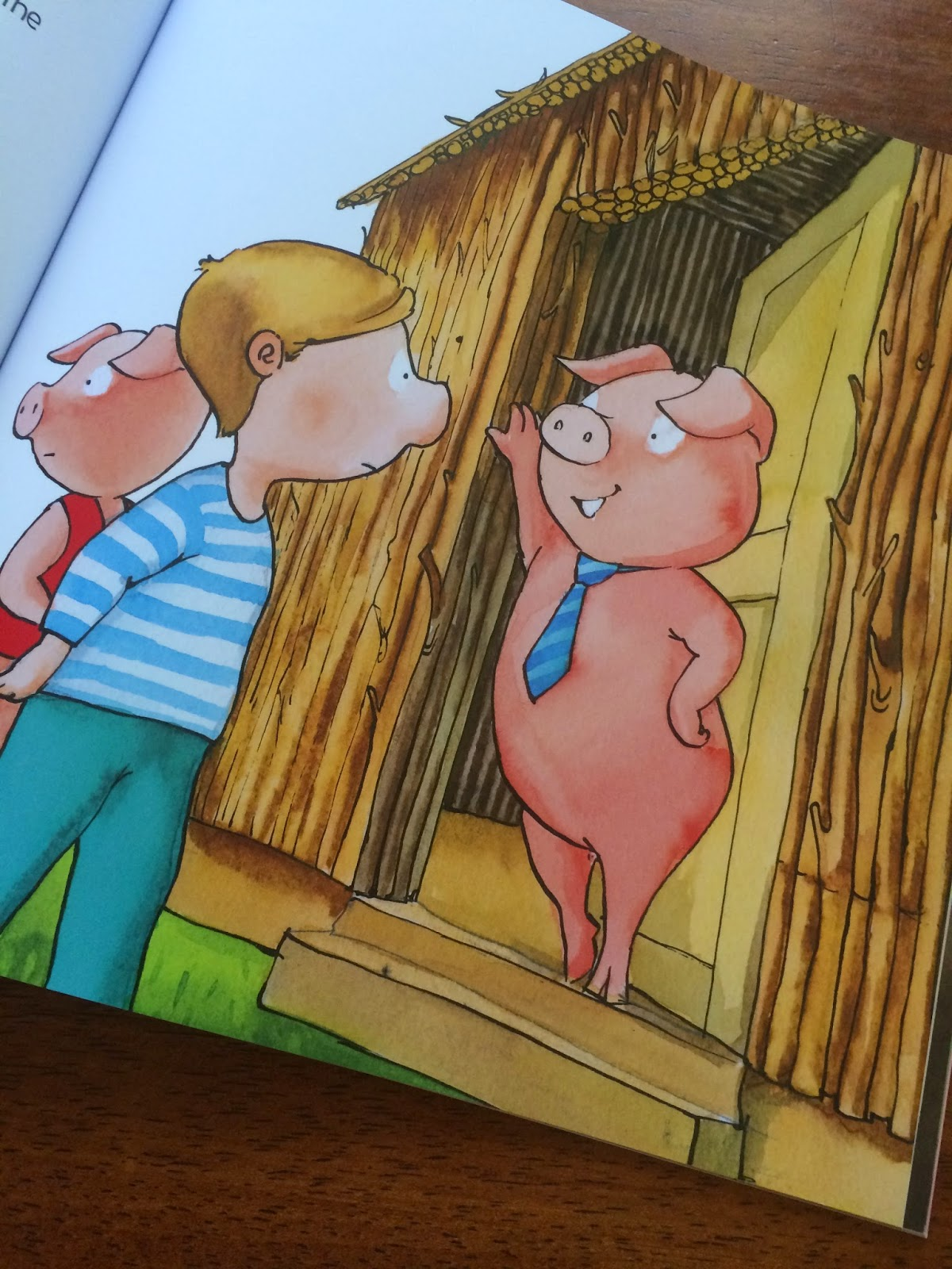 Illustration from The Four Little Pigs by Kimara Nye