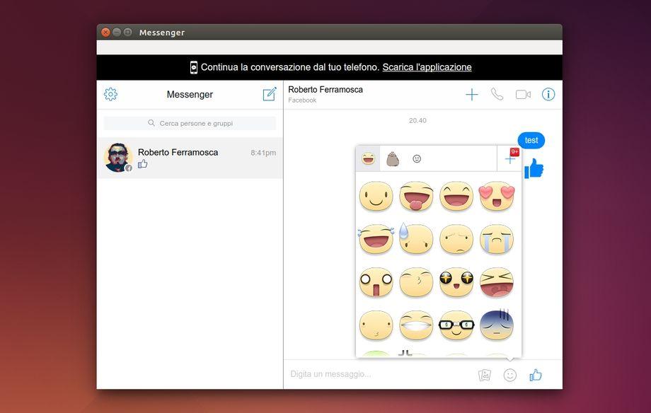 Messenger for Desktop in Ubuntu