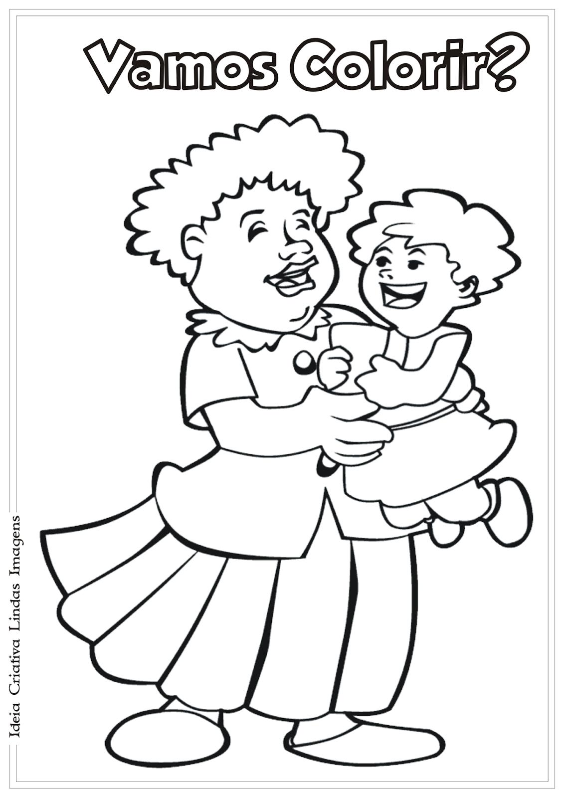 Desenho Dia das Mães pra colorir