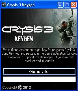 Crysis 3 Keygen For PC (Activation Keys)