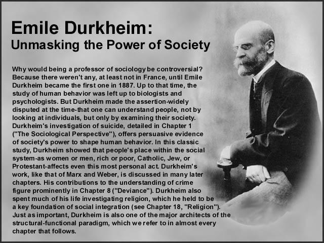the theories of emile durkkheim essay