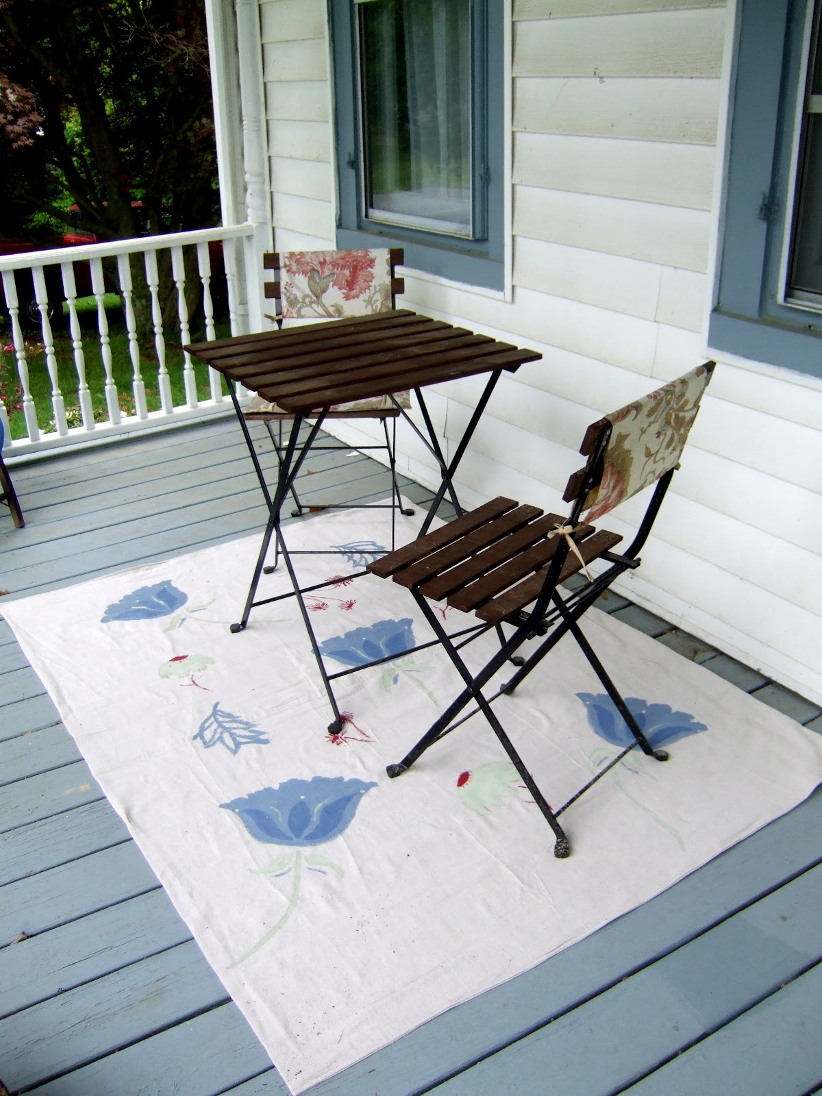 Dropped $8 on our new outdoor rug Little Victorian