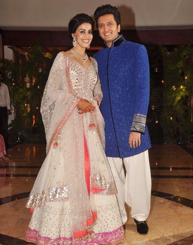 Indian Bollywood Riteish Deshmukh Genelia Dsouza Sangeet