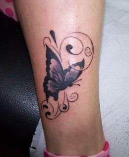 Beautiful Female - Butterfly Tattoos