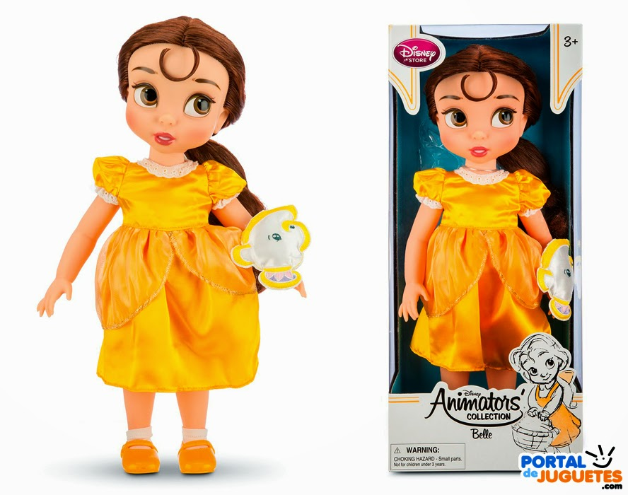 muñeca bella coleccion disney animators tercera edicion