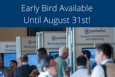 pworld Pentaho World 2015 is arriving   Early bird available till EOM