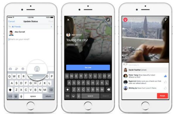 فيسبوك تعمم ميزتها Live Video على جميع المستخدمين