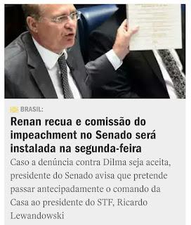 Impeachment no Senado só segunda