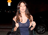 Brittny Gastineau sheer tank top without bra
