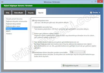 Windows Defender Yapılandırma