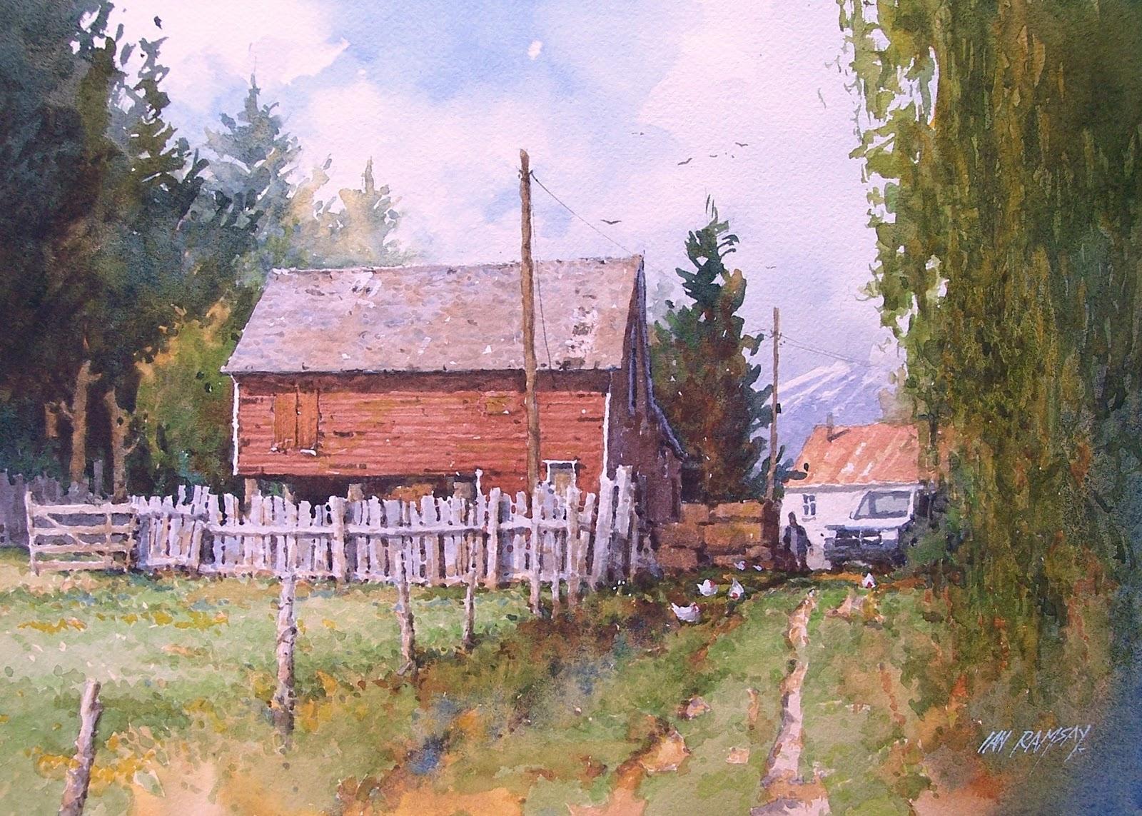 Ian Ramsay Watercolors January 2012