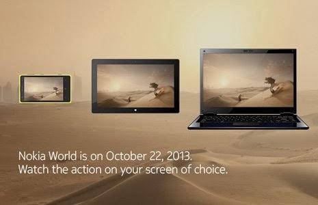 Il 22 ottobre 2013 all'evento di Nokia saranno presentati sicuramente 3 nuovi prodotti: un Tablet Lumia 2520, un Phablet Lumia 1520 e un Laptop