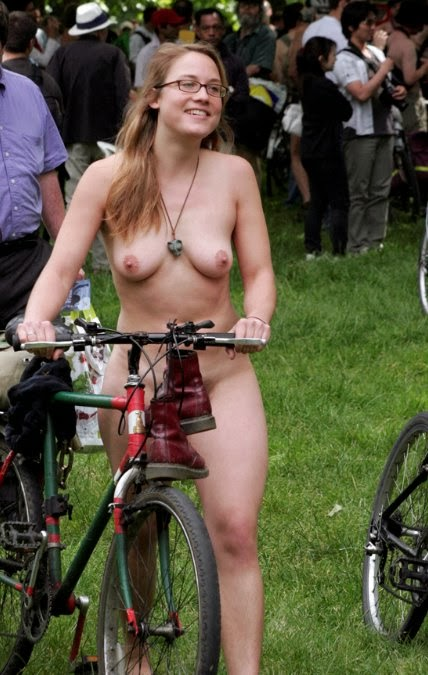 Opinion you Naked females on bicycle