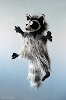 Енот - авторская игрушка ручной работы от Katrin Black