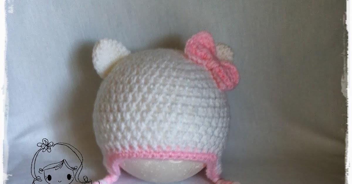 damn it Janet, lets crochet!: Hello Kitty Earflap Beanie - Newborn to To...