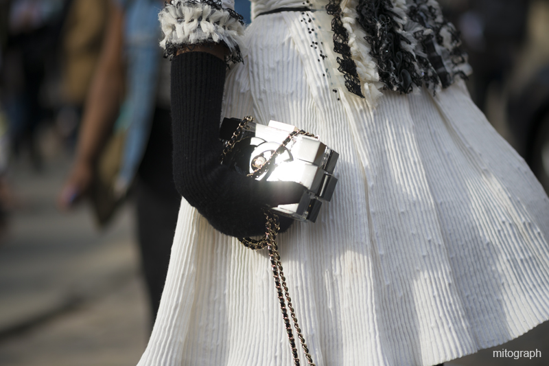 mitograph Anna Dello Russo Clear Chanel Legobag Paris Fashion Week 2013 2014 Fall Winter Street Style Shimpei Mito