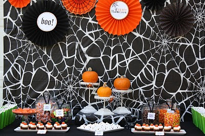 Halloween - mesas decoradas