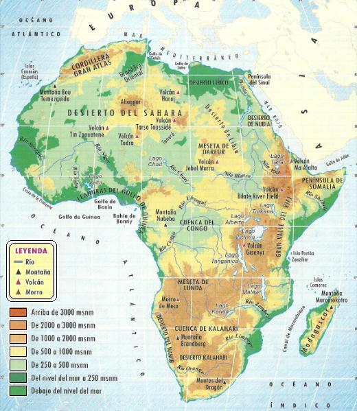 África Septentrional: MAPA FÍSICO.~