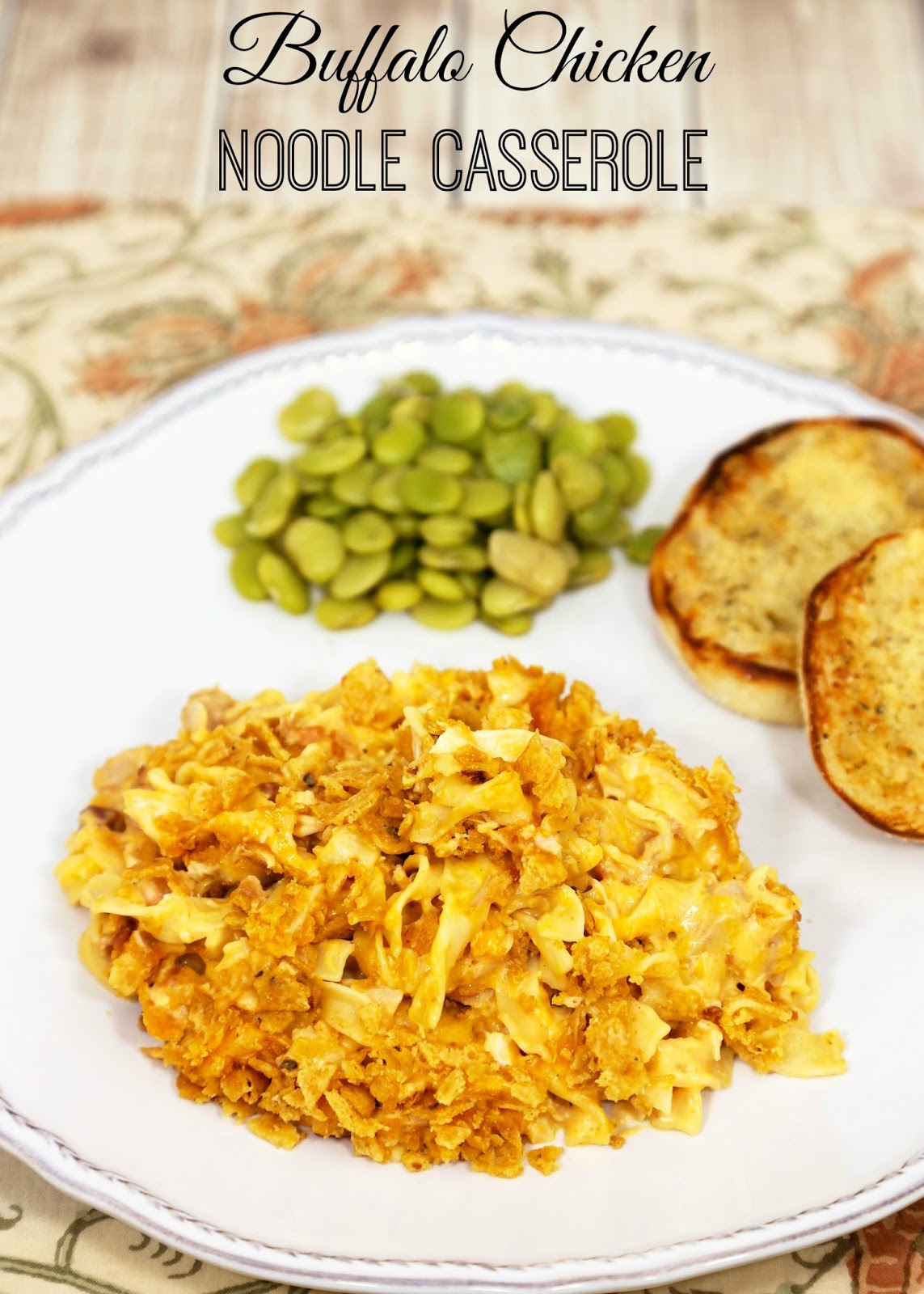 buffalo chicken noodle casserole