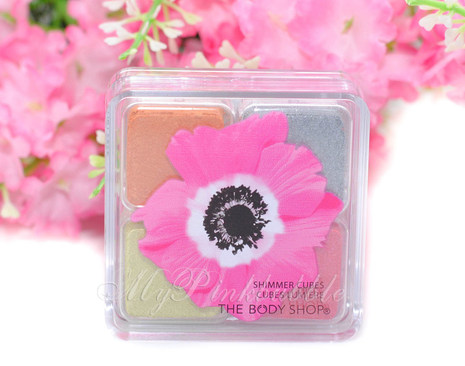Body shop shimmer cubes pink poppy