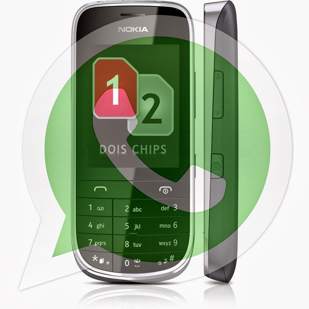 abrimos a página do What's App Messenger pelo celular Nokia Asha 202
