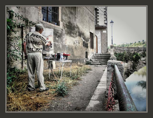 GIRONELLA-PINTURA-PONT-VELL-HISTORIA-PAISATGES-BERGUEDA-FOTOS-PINTOR-ERNEST DESCALS-