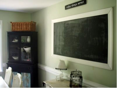 Iu0027ve Always Loved The Idea Of Framing A Chalkboard With A Pretty Frame.  Iu0027ve Debated Back And Forth About Painting A Whole Wall With Chalkboard  Paint, ...