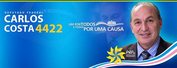 Carlos Costa Para Deputado Federal 4422 Pelo Estado do Espírito Santo