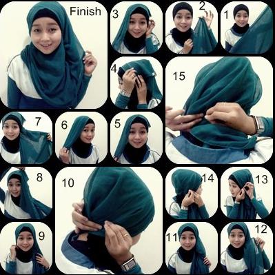 Video Tutorial Hijab Modern Segi Empat Terbaru