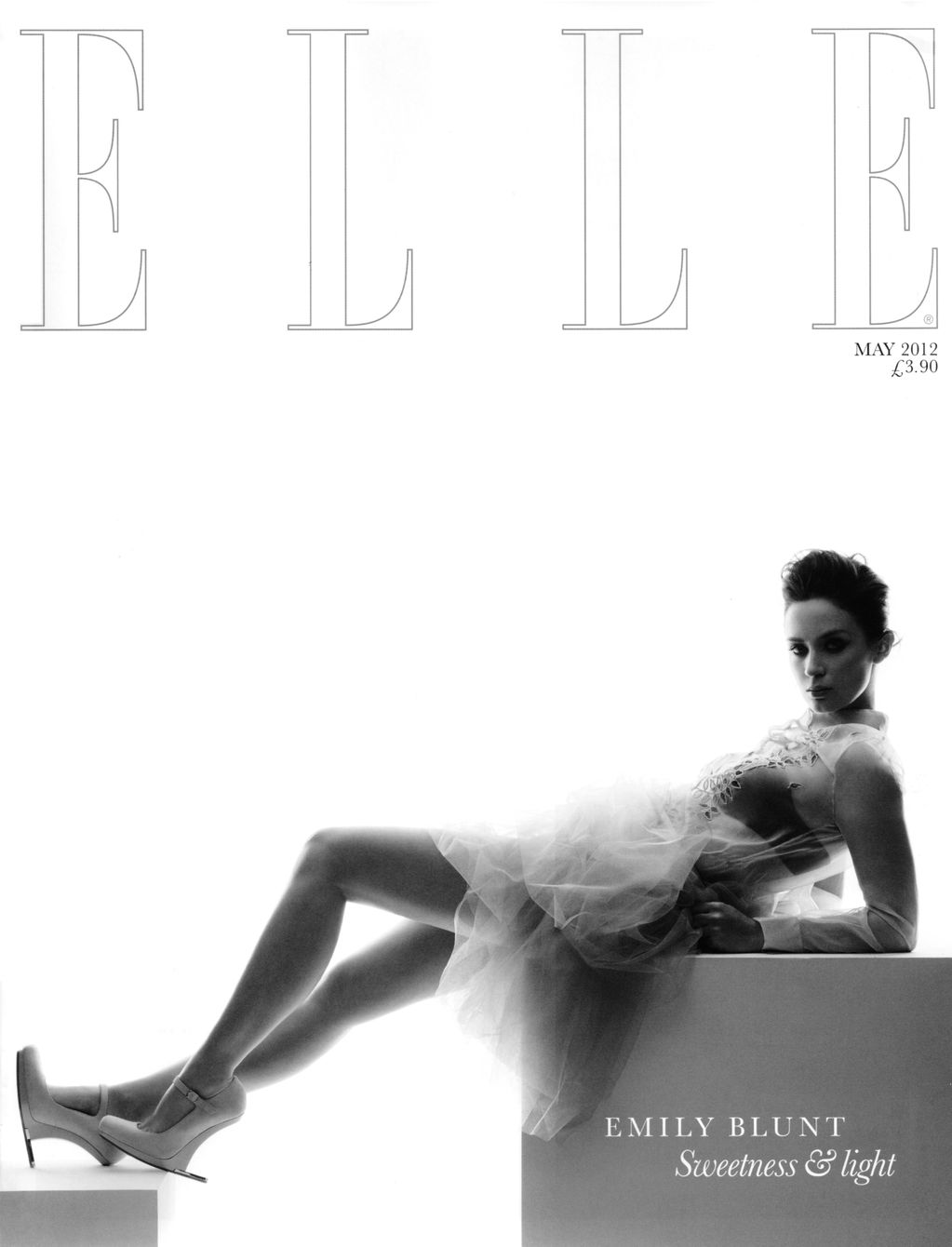 UK Elle May 2012: Emily Blunt by Thomas Schenk