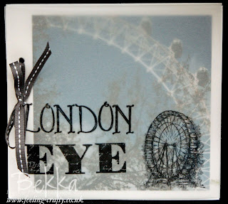 Feeling Sentimental London Eye Scrapbook by Stampin' Up! Demonstrator Bekka Prideaux