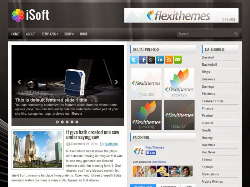 iSoft - Free Wordpress Theme