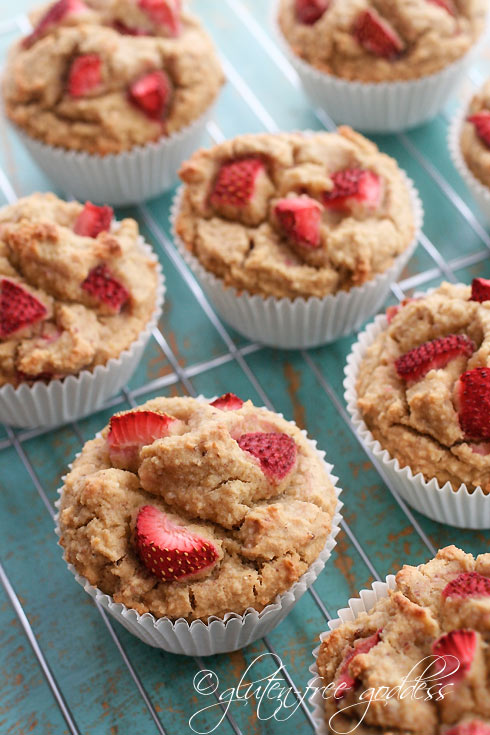 Gluten-free Goddess Whole Grain Strawberry Muffins