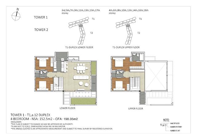 Căn hộ Duplex 4 phòng ngủ