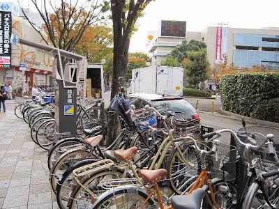 京阪古川橋駅 駅前自転車