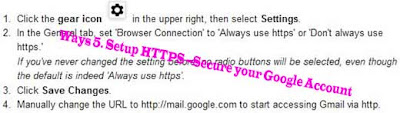 Way 5. Setup HTTPS --Secure your Google Account