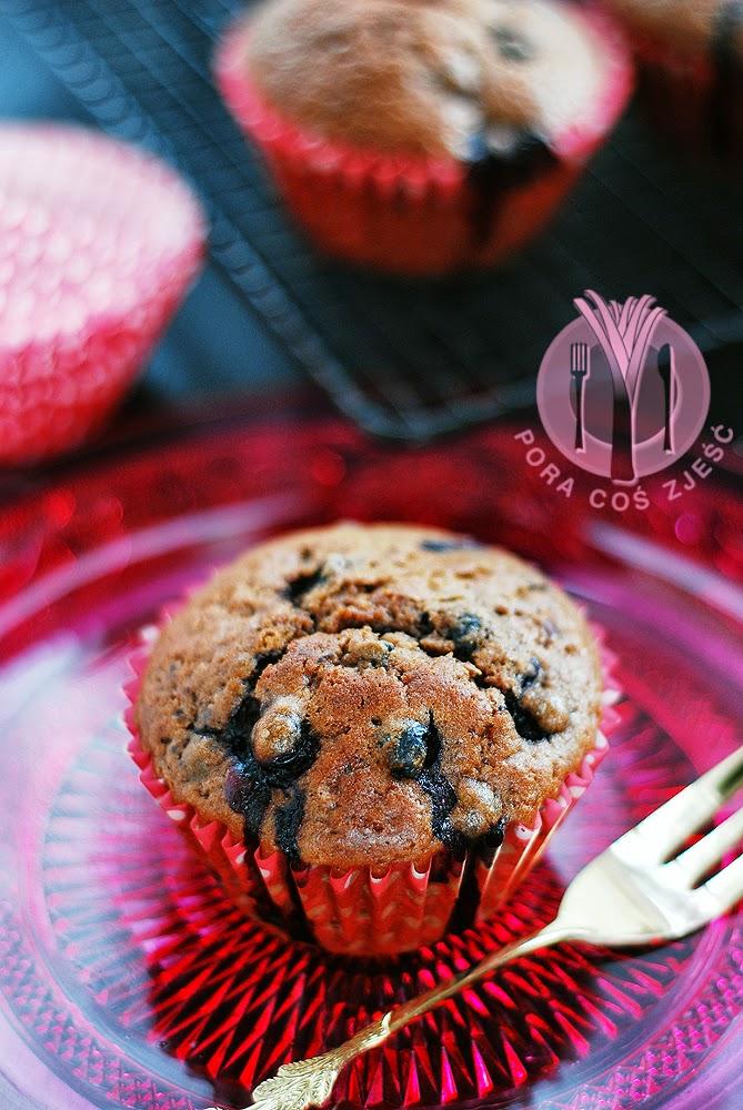 Muffinki z czerwonym winem