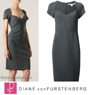 Queen Maxima Style DIANE von FURSTENBERG Neckline Dress
