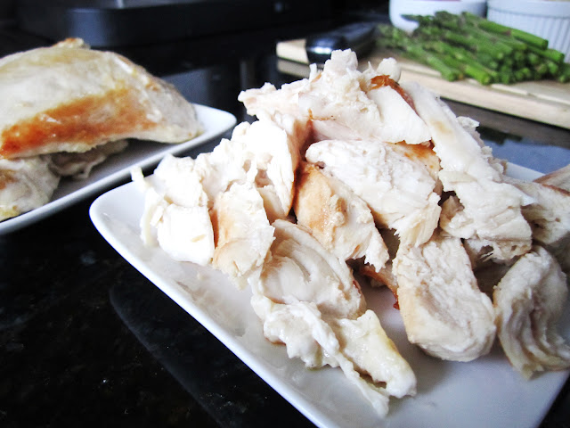 Perfectly cooked chicken breast - still juicy