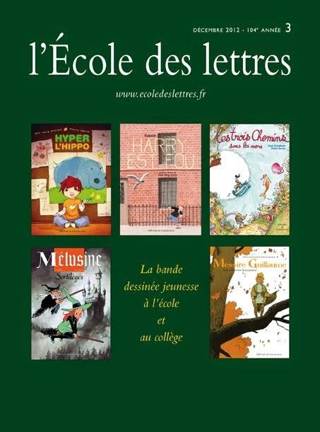 La bande dessinée jeunesse à l'école et au collège, par l'École des lettres, 17 décembre 2012