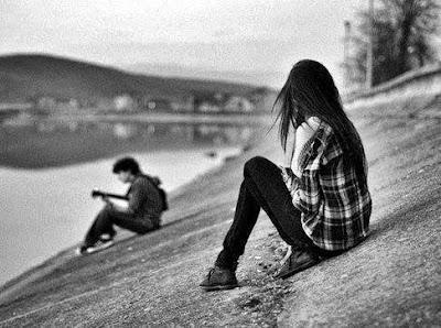 Message d'amour triste