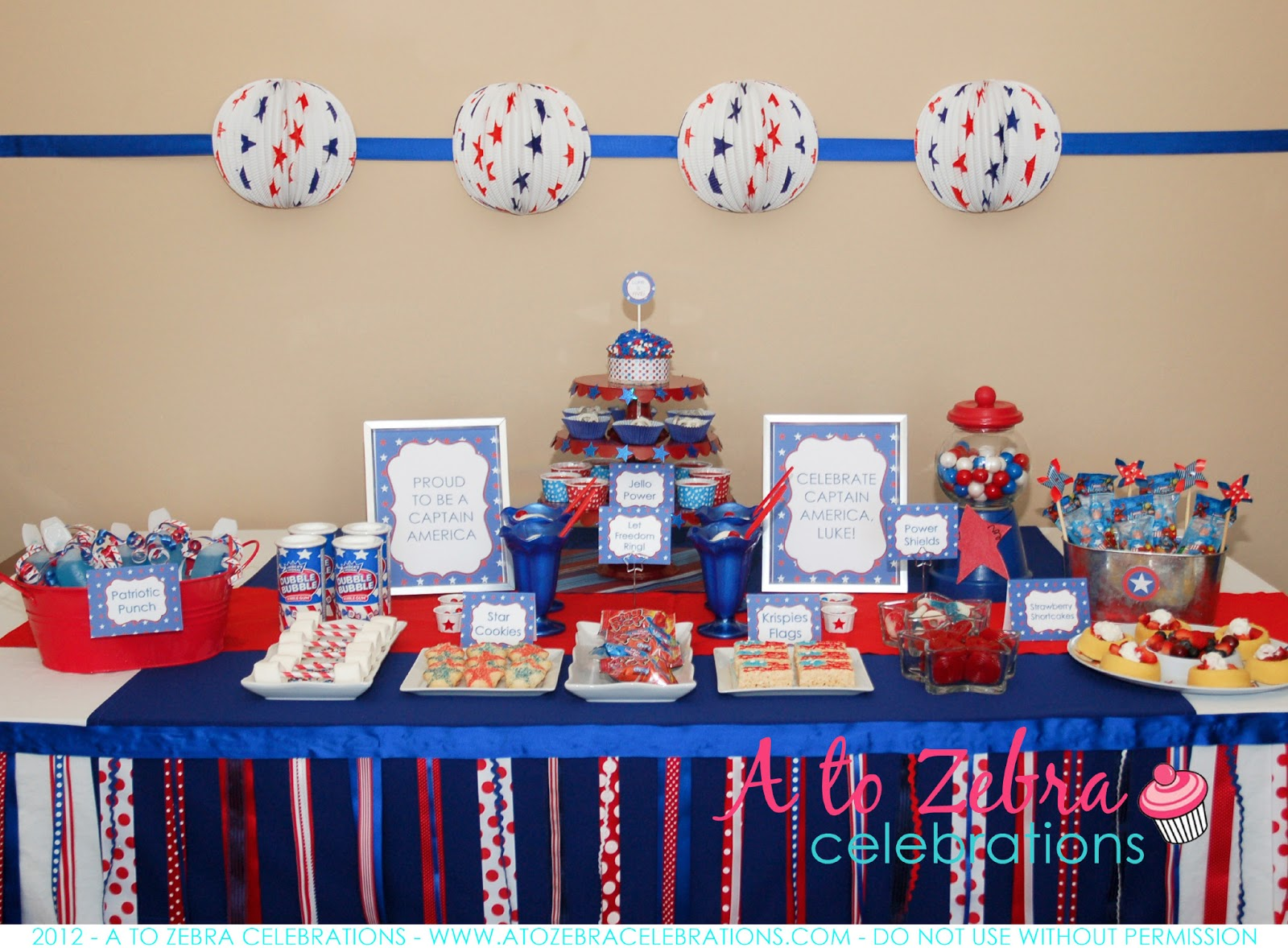 Laine design captain america party ideas and inspiration for American decoration